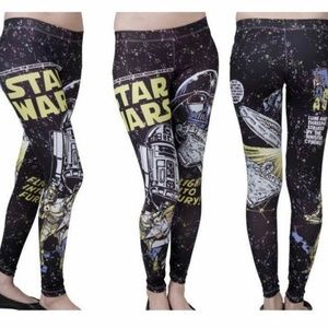 Mighty Fine Star Wars Galaxy Comic Leggings Small